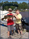 Great Fishing on the Eau Claire Chain of Lakes in Wisconsin